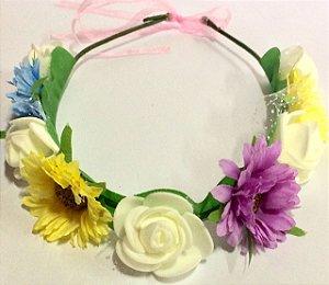 Headband/tiara com flores