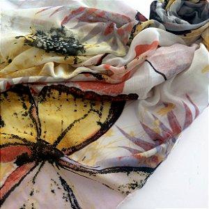 Echarpe borboletas
