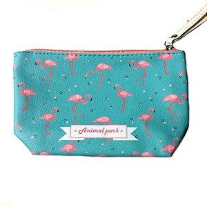 Carteira/Necessaire Flamingos