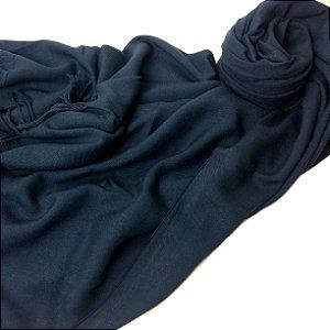 Pashmina LeLi Corrales azul marinho - feminina/masculina