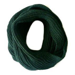 Gola de tricô verde escuro