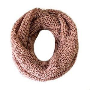 Gola de tricô rose