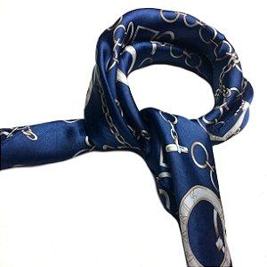 Lenço correntes azul