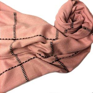 Pashmina outono inverno rosa