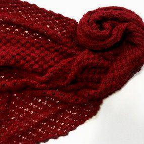 Xale tricô vermelho