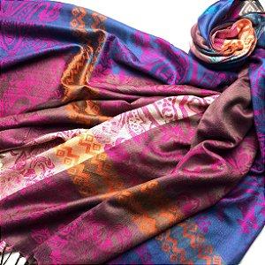 Pashmina explosão de cores