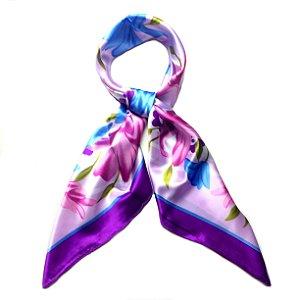 Lenço floral ultravioleta