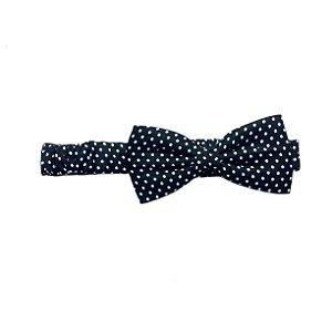 Headband/faixa/turbante poá azul e preto