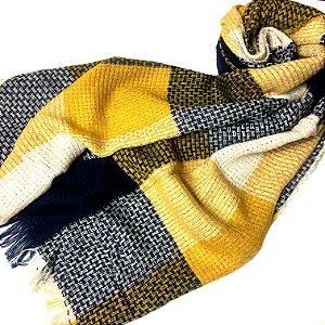 Pashmina inverno com amarelo