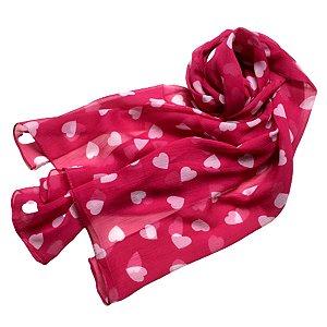 Echarpe indiana pink corações