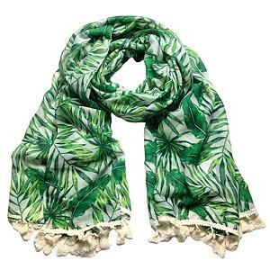 Echarpe verde floral