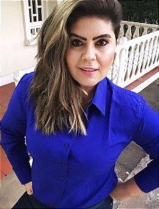 Camisa lisa azul