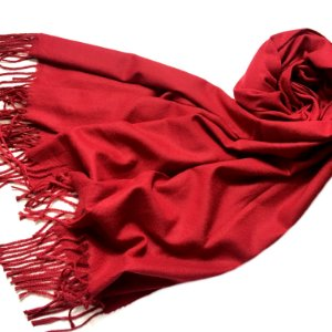 Pashmina padronagem cashmere vermelha
