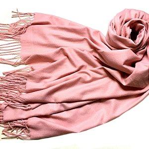 Pashmina padronagem cashmere rosa