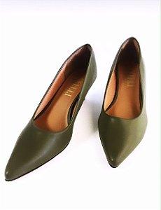Scarpin verde oliva - salto 5cm