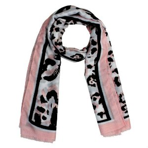 Echarpe animal print rose