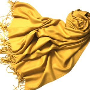 Pashmina padronagem cashmere amarelo-mostarda