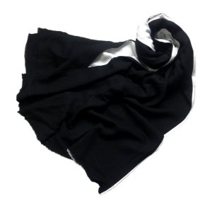 Pashmina dupla LeLi Corrales - preto e branco