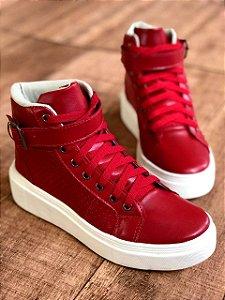 Tênis botinha vermelha