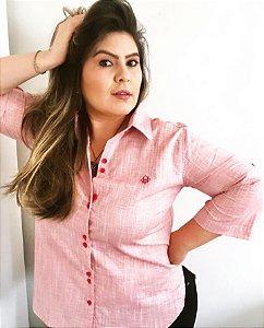 Camisa vest legging manga 3/4 vermelho ruby