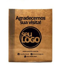 Saco Kraft Personalizada 22x13,5x30