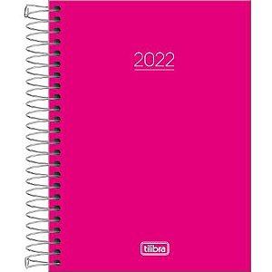 Agenda Espiral Diária Pepper Rosa 2022 160fls Tilibra - 1 Unidade