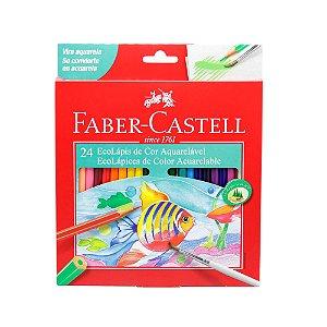 Lapis De Cor Aquarelavel Ecolapis 24 Cores Faber-castell