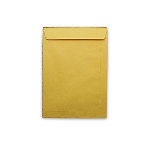 Envelope Saco Papel Kraft Ouro 176X250 80G Scrity