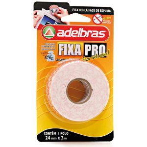Fita Dupla Face - Fixa Pro Espuma 24mmx2m Adelbras