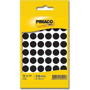 Etiqueta redonda Tp-12 Preta Redonda 12mm - Pimaco Bic
