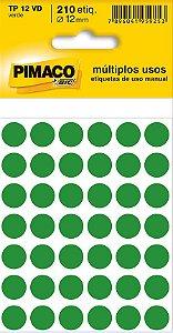 Etiqueta Redonda Pimaco - BIC Tp-12 Verde 12mm