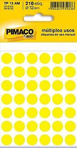 Etiqueta redonda Tp-12 Amarela Redonda 12mm - Pimaco Bic