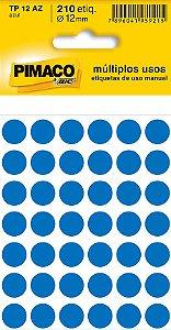 Etiqueta redonda Tp-12 Azul Redonda 12mm - Pimaco Bic
