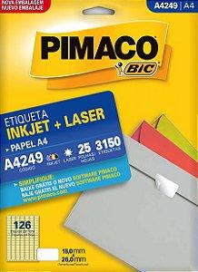 Etiqueta Pimaco BIC A4249 15,0X26,0Mm 3150 Etq