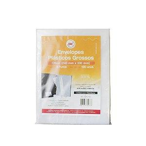 Envelope plastico Oficio 4furos Grosso 0,15mm Dac 10 - Unidades
