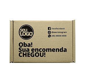 Caixas de Papelão Montável Personalizada 19x17x7 cm