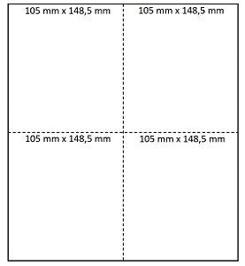 Etiqueta A4 - 4 Etiquetas 105mmX148,50mm