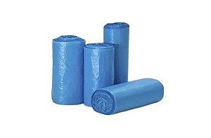 Saco De Lixo Azul 26 Micras Picotado 100 Litros - 25 uni