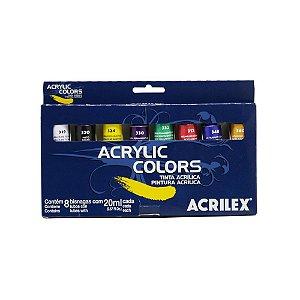 Tinta Acrylic Colors Acrilex - 8 Cores 20ml