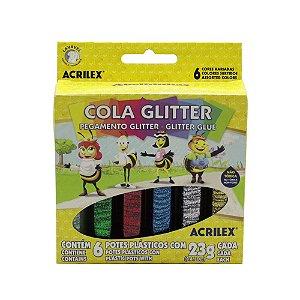 Cola Glitter Acrilex 6 Unidades 23g