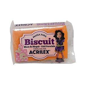 Massa Para Biscuit Laranja Acrilex 90g