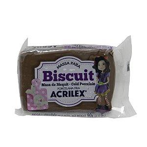 Massa Para Biscuit Marrom Acrilex 90g