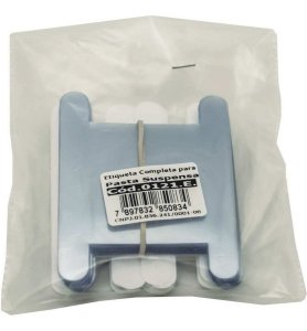 Visor de Pasta Suspensa - Etiqueta Branca - 50 Uni