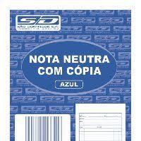 Impresso Talão Nota Neutra 1/36 25x2 104x146 - Multivia
