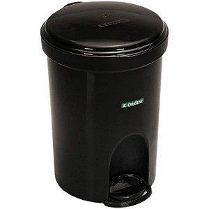 Cesto de Lixo com Pedal Ordene - 13,5L Preto