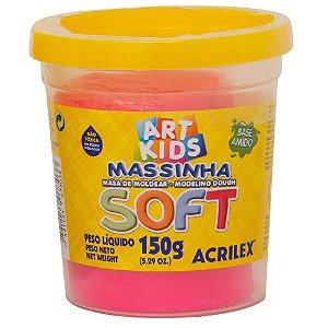 Massa de Modelar Soft Acrilex - Rosa Maravilha 150g