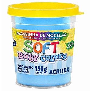 Massa de Modelar Soft Baby Acrilex - Azul Bebê 150g