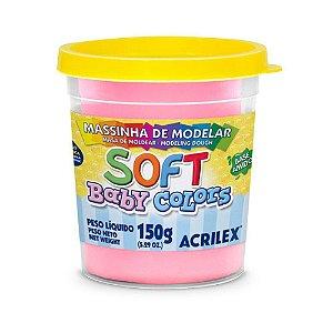 Massa de Modelar Soft Baby Acrilex - Rosa Bebê - 150g