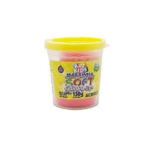 Massa de Modelar Acrilex Soft Glitter Vermelho 150g