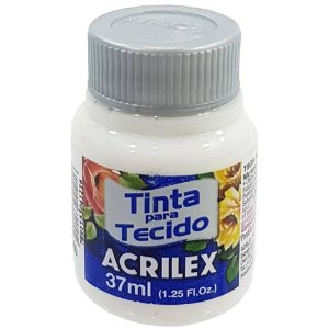 Tinta de Tecido Fosca Acrilex - 37ml Incolor/Clareador